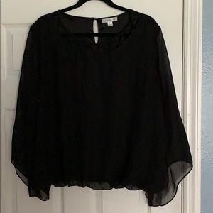 John Paul Richards Black Blouse Size XL
